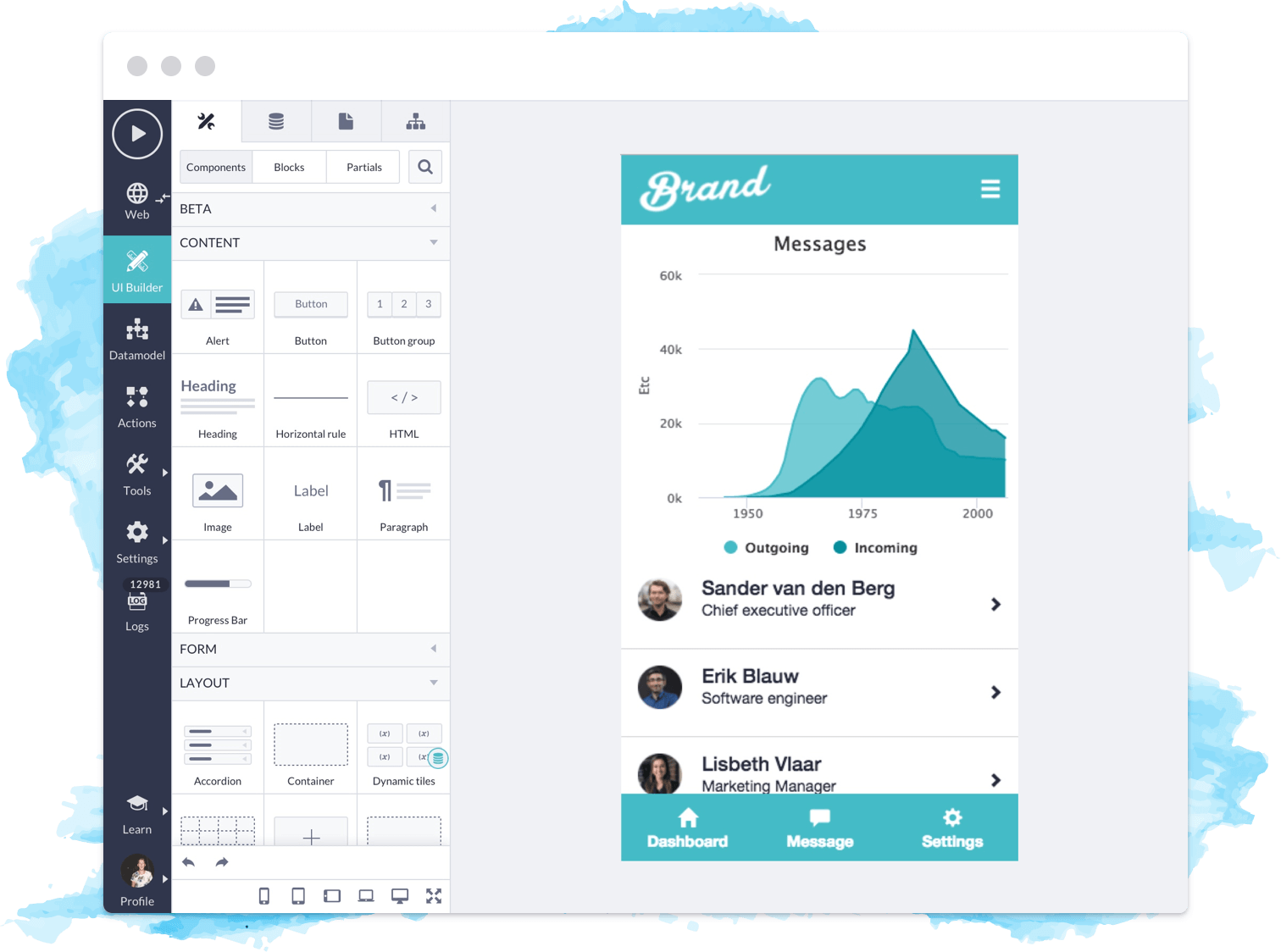 Platform Screenshot UI Builder